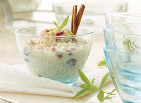 Cranberry Maple Lemon Rice Pudding