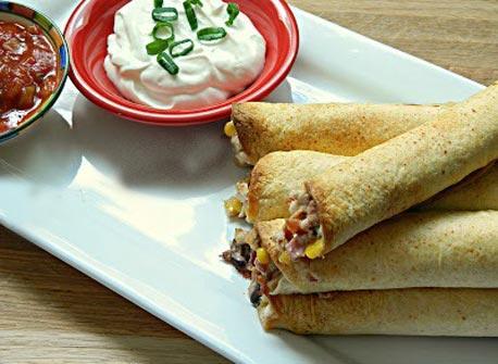 Creamy Chicken and Bacon Taquitos Recipe