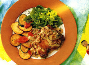 Creamy Herbed Pork Chops