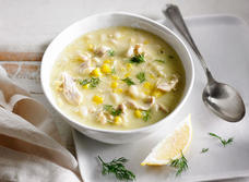 Creamy Orzo, Corn and Chicken Soup recipe