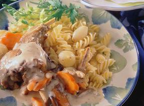 Creamy Rabbit with Mushroom and White Wine
