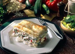 Creamy Three Cheese Vegetable Lasagna