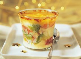 Crème Brûlée with Crab, Avocado and Havarti