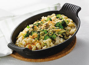 Crispy Greens Mac & Cheese