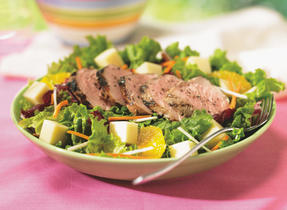 Crispy Pork and Orange Salad with Provolone