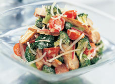 Crunchy Broccoli Salad with Cheddar and Chicken