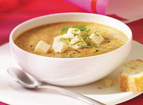 Curried Lentil soup with Havarti (Cooking Club Size)