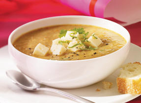 Curried Lentil Soup with Havarti