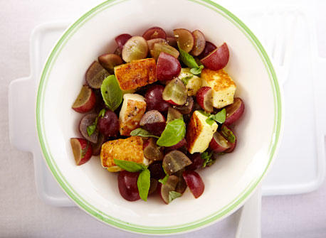 Curried Red Grape Salsa with Grilled Halloumi Recipe