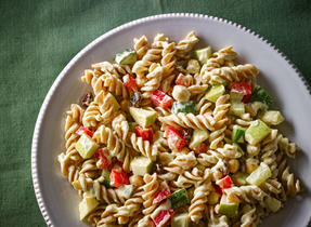 Curry Chickpea Pasta Salad