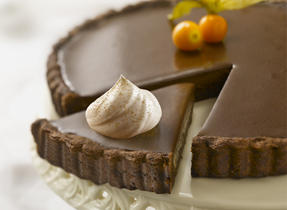 Dark Chocolate Cinnamon Truffle Tart