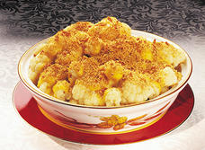 Double Cheese Sauced Cauliflower with Crispy Crumb Topping