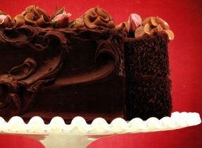 Double Fudge Chocolate Cake