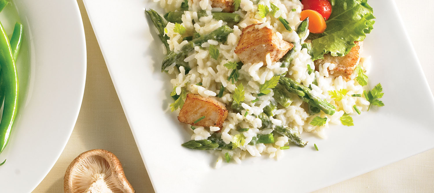 Easy-to-Make Chicken and Asparagus Risotto recipe | Dairy Goodness