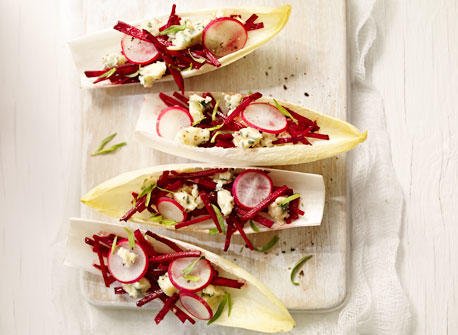 Endive Spears with Beets and Blue Cheese Recipe