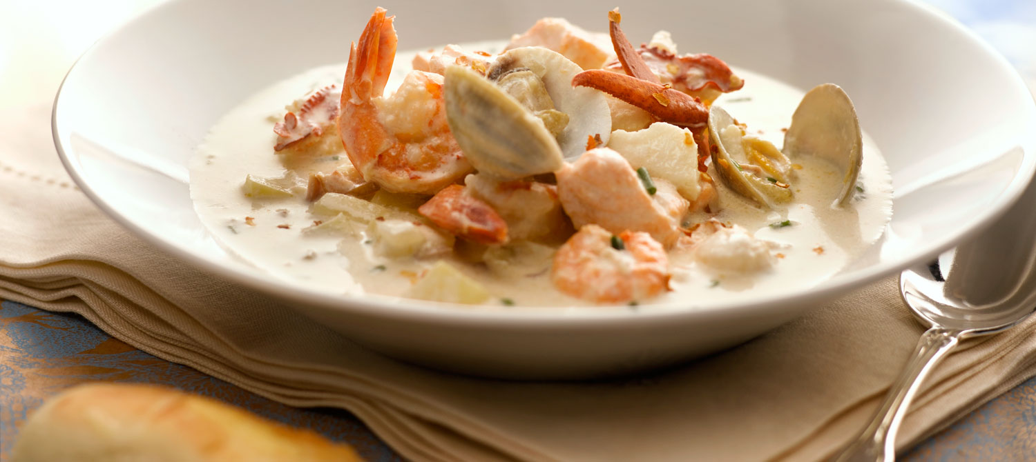 Fairmont seafood chowder recipe dairy goodness for Creamy fish soup recipe