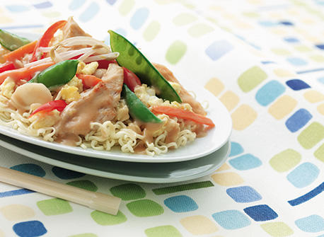 Faster-than-Take-Out Chicken and Veggie Chow Mein Recipe