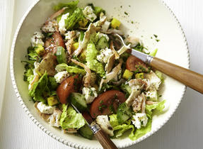 Fattoush revisited with crab and Feta