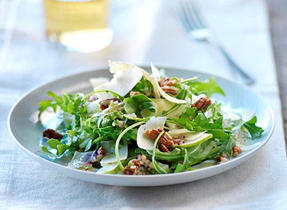 Fennel, Arugula, Cheddar, and Pecan Salad