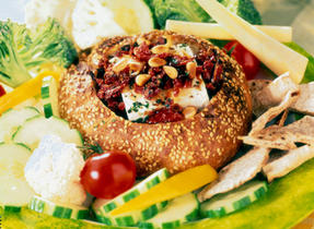 Feta, Garlic and Sun-dried Tomato Stuffed Loaf