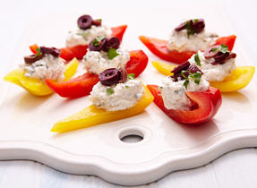 Feta pepper boats