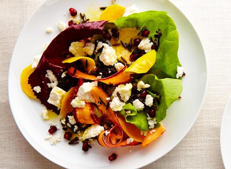 Feta wild rice citrus salad Recipe