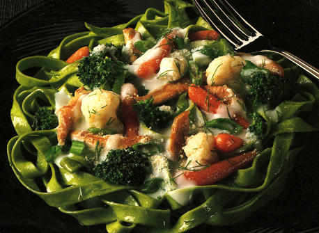 Fettucine with Chicken and Vegetables Recipe