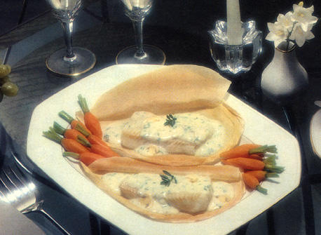 Fish in a Pouch with Mushroom Sauce Recipe