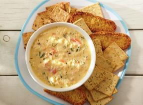 Four-cheese crab dip