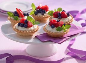 Fresh Fruit Tartlet with Mascarpone Cream