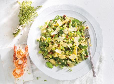Fresh Pesto Beans & Greens Orzo Recipe