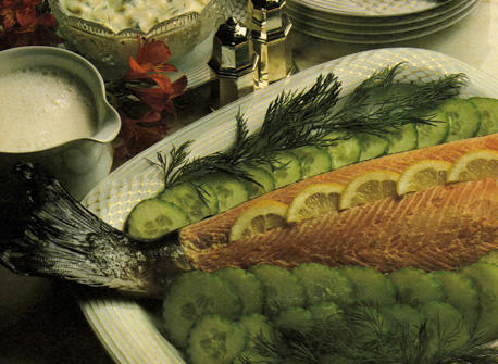 Fresh Salmon with Dill and Egg Sauce Recipe