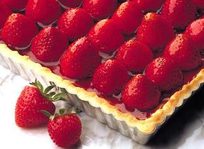 Fresh Strawberry Flan