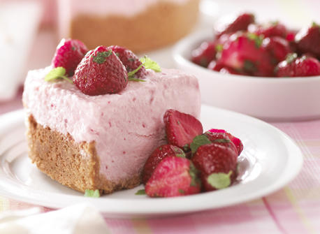 Frozen Strawberry Cheesecake recipe | Dairy Goodness