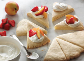 Fruit and Cream Shortbread Wreath