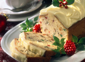 Fruit Cake with Mascarpone Icing