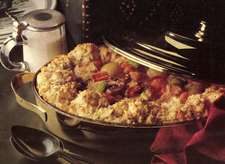 Game Casserole with Savoury Biscuits Recipe