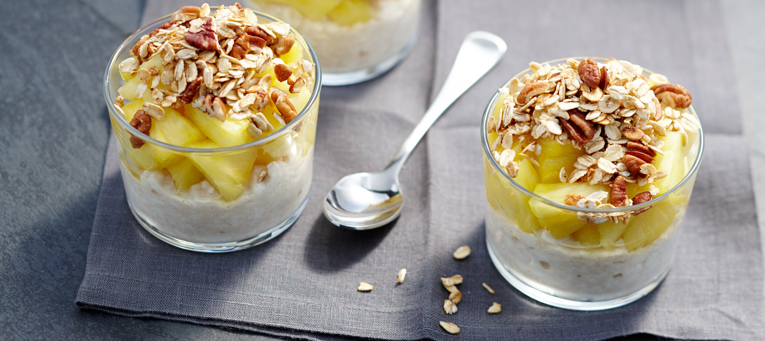 Ginger Granola Pineapple Cottage Cheese Recipe