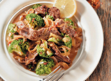Ginger-Lemon Beef & Broccoli Recipe