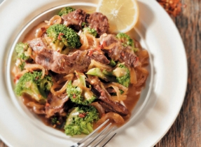 Ginger-Lemon Beef & Broccoli