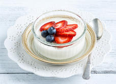 Ginger Panna Cotta with berries
