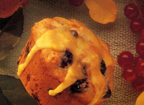 Glazed Blueberry Orange Muffins