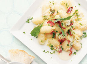 Gnocchi with Bacon and Leeks
