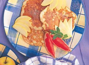 Golden Cheddar Pancakes