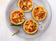 Gouda butter chicken tarts