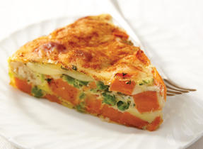 Gouda, Green Pea and Sweet Potato Pie