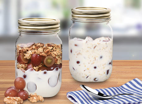 Grape and Walnut Breakfast Parfaits Recipe
