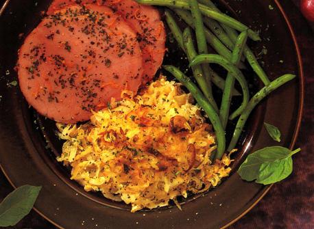 Grated Potato and Cheese Casserole Recipe