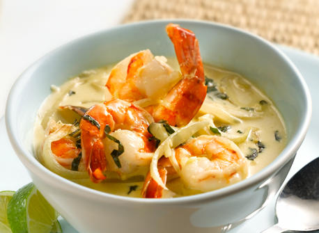 Green Curry Shrimp with Basil recipe | Dairy Goodness