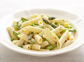 Greens and Cream Cheese penne
